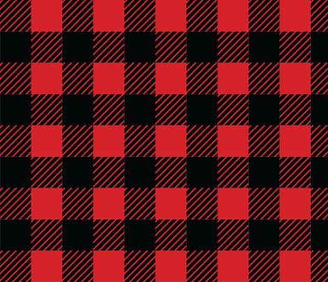 Buffalo plaid - 2 inches - Red & Black fabric by howjoyful on Spoonflower - custom fabric