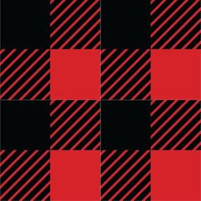 Buffalo plaid - 2 inches - Red & Black