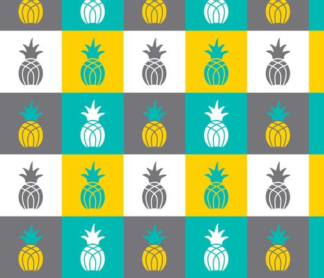 Pineapple_Block fabric by monicadowns on Spoonflower - custom fabric