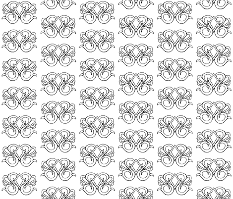 Diamond Swirl Damask- Coloring Version fabric by essieofwho on Spoonflower - custom fabric