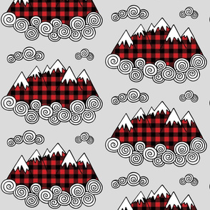 Mountains buffalo plaid -