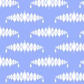 Diamond Broach Damask-Blue