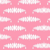 Diamond Broach Damask-Pink