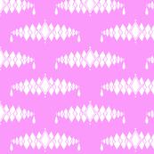 Diamond Broach Damask-Purple