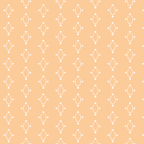 Circles and Dots- Peach fabric by essieofwho on Spoonflower - custom fabric