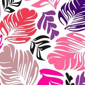 Tropical Leaves Pink & Purple
