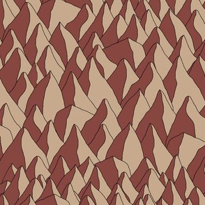 Repeating Brown Mountains with 2 caves