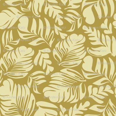 Tropical Leaves Beige