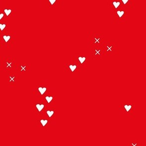 Romantic love and cupid xoxo valentine print red