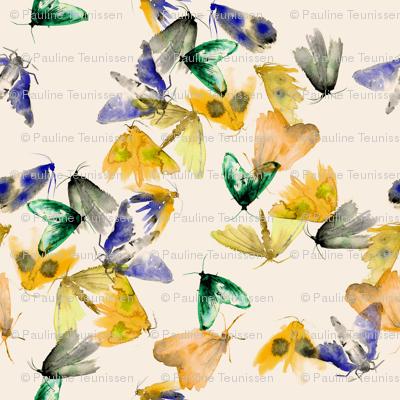 Aqua Moth Yellow
