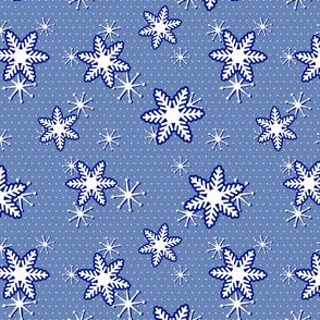 Holiday Snowflakes in Blue
