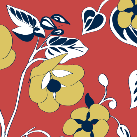 Abultilin_layersRussetGold fabric by caela_bee_designs on Spoonflower - custom fabric