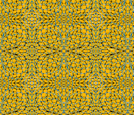 Fishing Nets in Mustard fabric by kirstenkatz on Spoonflower - custom fabric