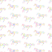 horse rainbow speckle