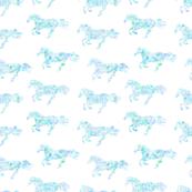 horse rainbow blue