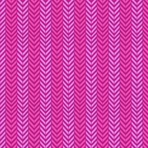 Magenta Pink Herringbone chevron / hot pink magenta pink yarrow