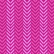 Hot Pink Herringbone chevron / hot pink magenta pink yarrow