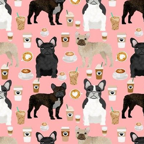 french bulldogs coffee cute frenchies fabric best french bulldog designs