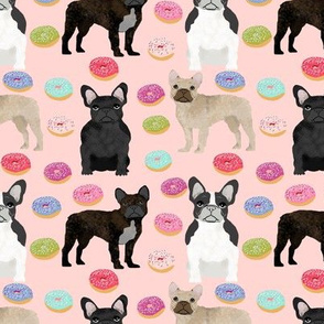 frenchies donuts fabric cute french bulldogs fabrics for dogs cute sewing fabrics