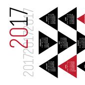 2017 Triangles Tea Towel Calendar