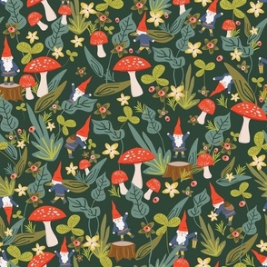 Gnome Fabric Wallpaper Home Decor Spoonflower
