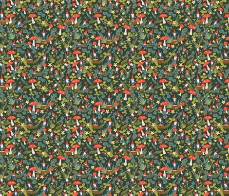 Woodland Gnomes (Small) fabric by shelbyallison on Spoonflower - custom fabric