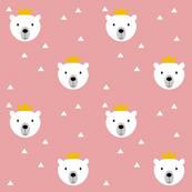 Polar Bear King pink