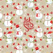 Festive - Snowmen Tan