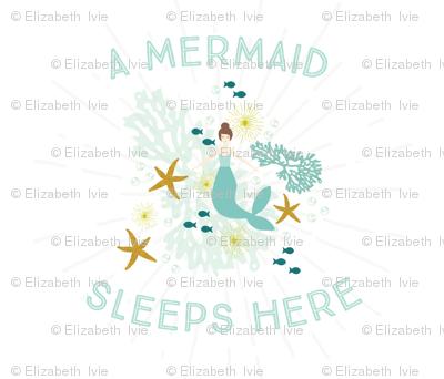 A Mermaid Sleeps Here Baby Blanket // Brunette