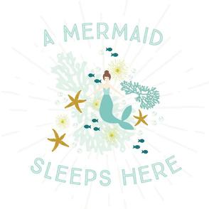 A Mermaid Sleeps Here Lovey // Brunette