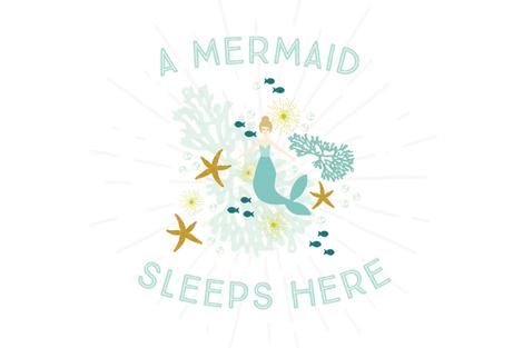 A Mermaid Sleeps Here Lovey // Blonde fabric by ivieclothco on Spoonflower - custom fabric