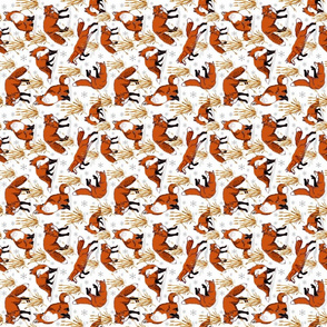 red_fox_snow_day_dish_towel