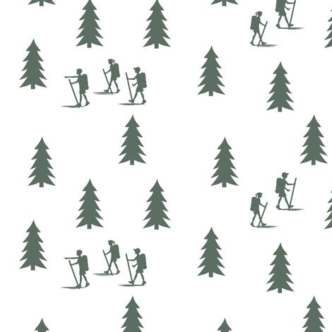 walk in the woods in terrain green || adventure camp fabric by littlearrowdesign on Spoonflower - custom fabric