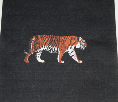 Teak Tiger Walking for Pillow