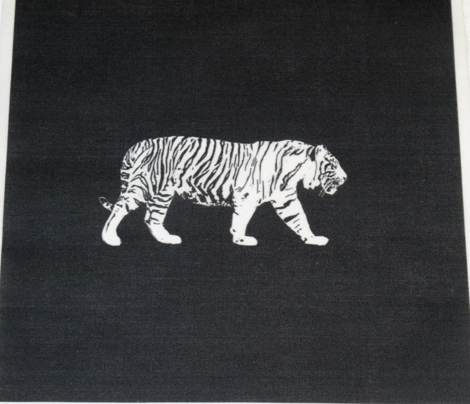 White Tiger Walking for Pillow