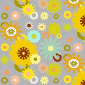 cog floral grey