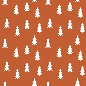 trees on bonfire orange (small scale) || adventure camp