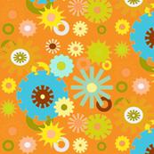 cog floral orange