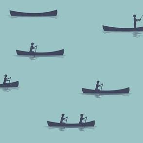 canoeing on blue echo    adventure camp