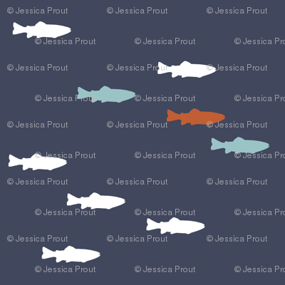 fish on superior blue