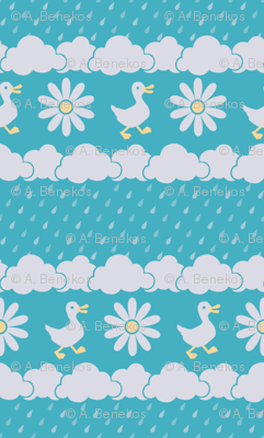 A Nice Day for Ducks (Turquoise)