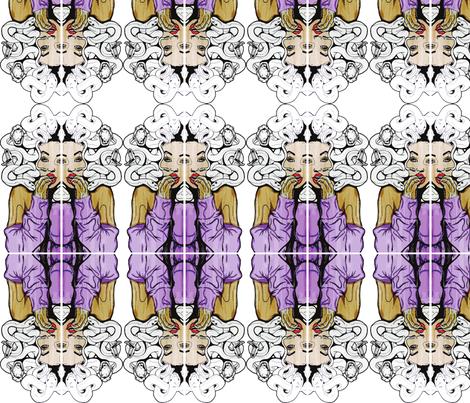 Hipster Medusa fabric by aarellano on Spoonflower - custom fabric