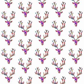 Vibrant Floral Boho Deer Pattern