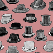 Old-Fashioned Hats - Red