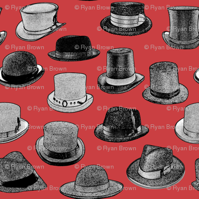 Vintage Men's Hats // Red