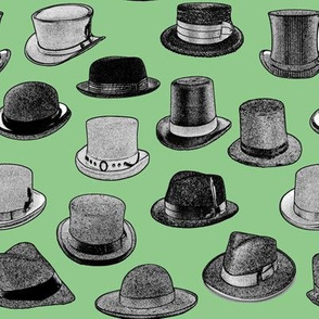 Vintage Men's Hats // Green