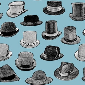 Vintage Men's Hats // Blue