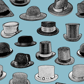 Old-Fashioned Hats - Blue