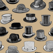 Old-Fashioned Hats - Tan