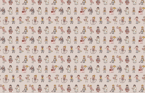 Vintage Toys fabric by carambola_pattern_design on Spoonflower - custom fabric